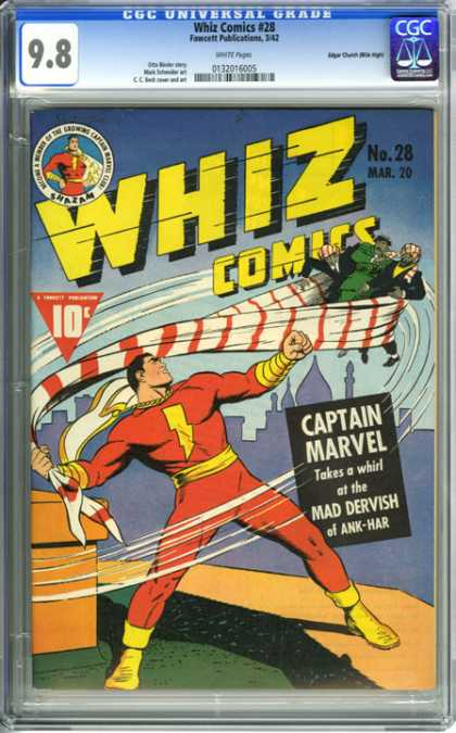CGC Graded Comics - Whiz Comics #28 (CGC) - Captain Marvel - Mad Dervish - Ank-har - Villian - Cape