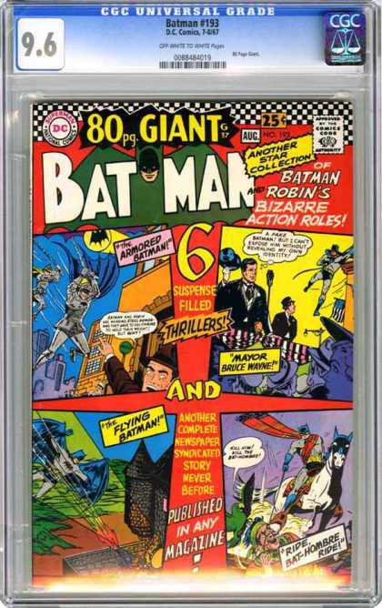CGC Graded Comics - Batman #193 (CGC) - Batman - Bat Signal - Castle - Horse - Fire