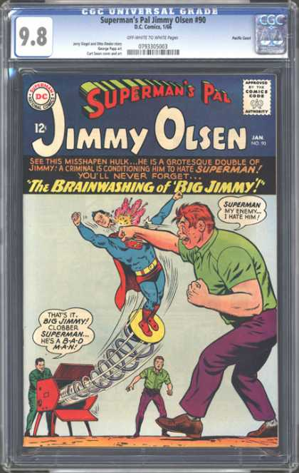 CGC Graded Comics - Superman's Pal Jimmy Olsen #90 (CGC) - Supermans Pal - Jimmy Olsen - Brainwashing - Punching - Misshapen Hulk