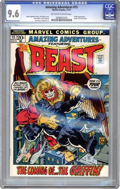 CGC Graded Comics - Amazing Adventures #15 (CGC) - Marvel Comics Group - Amazing Adventures - 15 Nov - The Beast - Approved By The Comics Code Authority