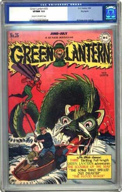 CGC Graded Comics - Green Lantern #26 (CGC) - Water - Boat - Superman - Ship - Fighting