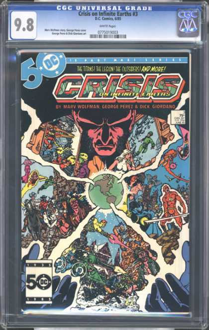 CGC Graded Comics - Crisis on Infinite Earths #3 (CGC)