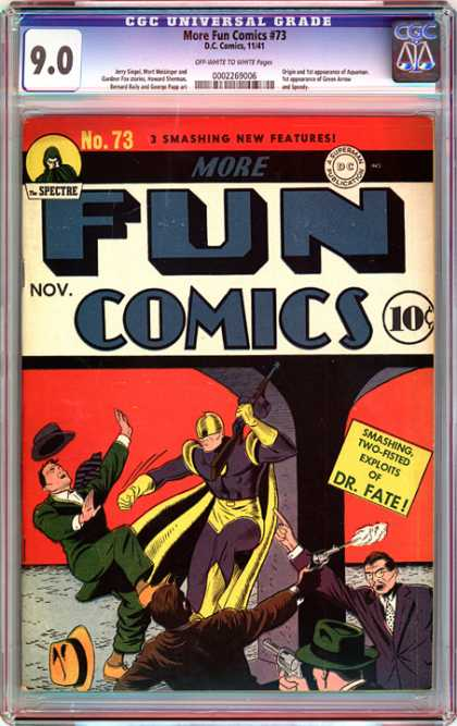 CGC Graded Comics - More Fun Comics #73 (CGC) - Sorcerer - Dr Fate - Two Fisted - Golden Age - Can You Esape Fate