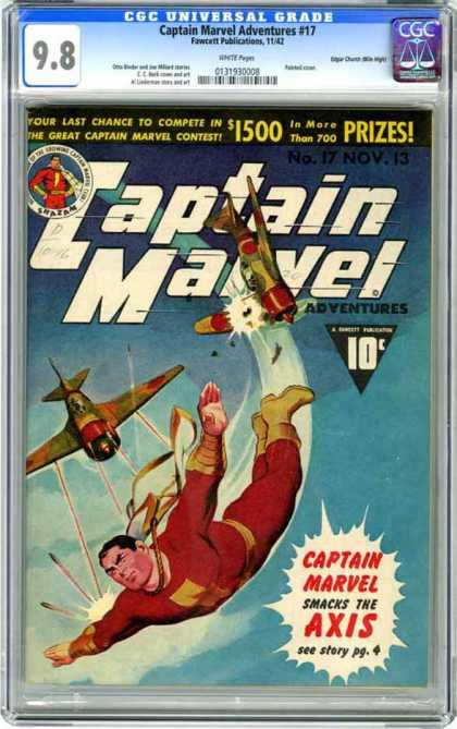 CGC Graded Comics - Captain Marvel Adventures #17 (CGC)