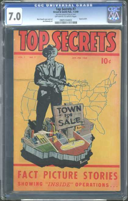 CGC Graded Comics - Top Secrets #7 (CGC)