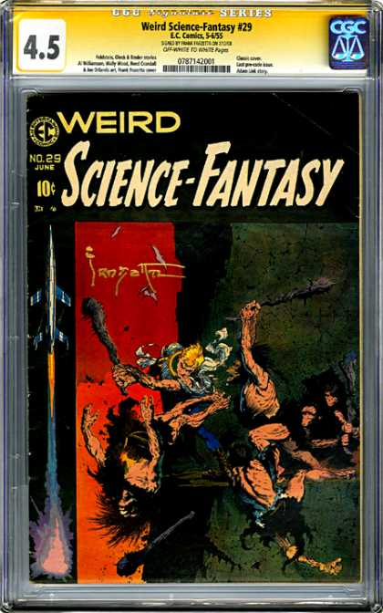 CGC Graded Comics - Weird Science-Fantasy #29 (CGC) - Weird Science Fantasy - Ec Comics - Caveman - Blonde Guy - Jet