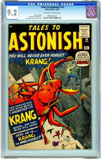 CGC Graded Comics - Tales to Astonish #14 (CGC) - Ac - Ac Comics - Astonish - Krang - Giant Spider
