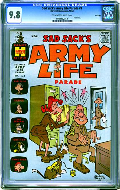 CGC Graded Comics - Sad Sack's Army Life Parade #1 (CGC)
