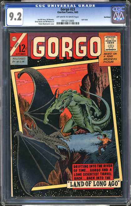 CGC Graded Comics - Gorgo #23 (CGC) - Approved By The Comics Code - Gorgo - Land Of Long Ago - Lizard - Man