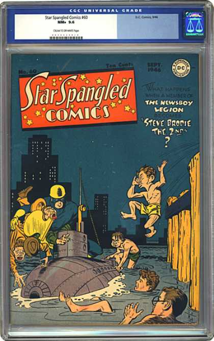 CGC Graded Comics - Star Spangled Comics #60 (CGC) - Newsboy Legion - Steve Brodie - Star Spangled Comics - Resue Submarine - Legion Membership