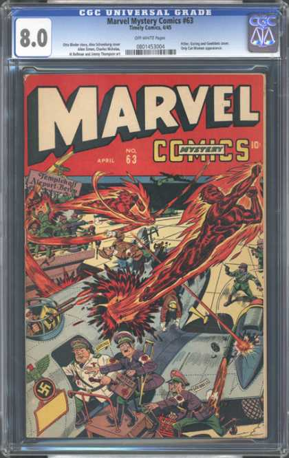 CGC Graded Comics - Marvel Mystery Comics #63 (CGC) - The Torch - Hot On The Trail - A Secret Weapon - The Scourge Of The Nazis - Too Hot To Handle