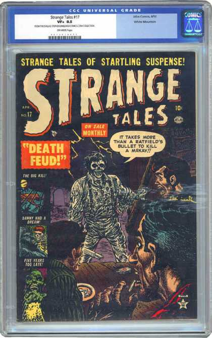 CGC Graded Comics - Strange Tales #17 (CGC) - Strange Takes - Horror - Death Feud - Startling Suspens - Ratfield