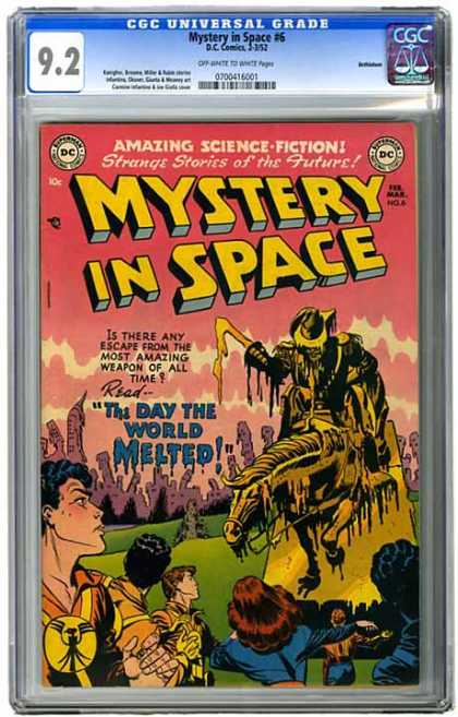 CGC Graded Comics - Mystery in Space #6 (CGC) - Mystery In Space - The Day The World Melted - Grim Reaper - Science Fiction - City