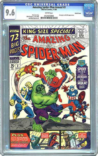 CGC Graded Comics - Amazing Spider-Man Annual #3 (CGC)