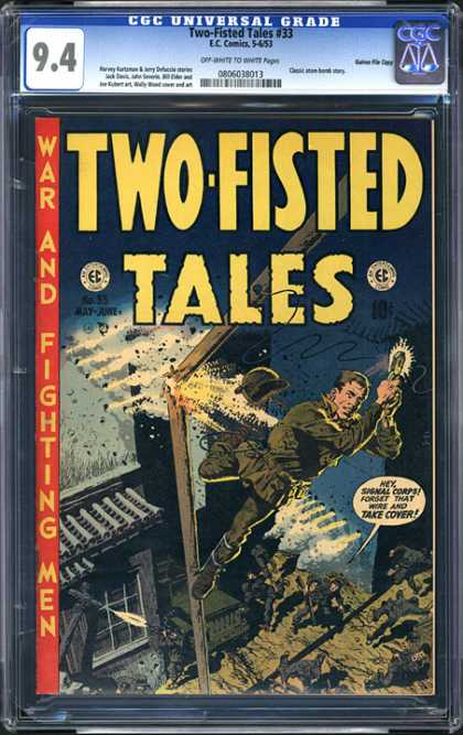 CGC Graded Comics - Two-Fisted Tales #33 (CGC) - War - Men - Fighting - Explosion - Grenade