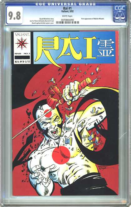 CGC Graded Comics - Rai #1 (CGC) - Sword - Japan - Muscle - Fighter - Claws