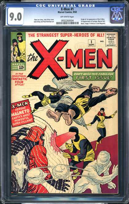 CGC Graded Comics - X-Men #1 (CGC) - First Issue - Magneto - Cyclops - Iceman - Battle
