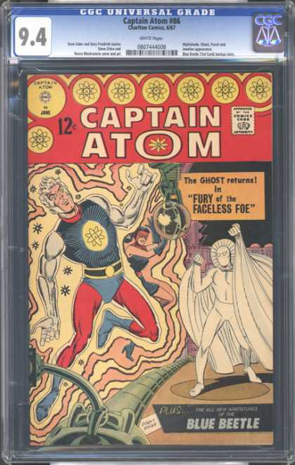 CGC Graded Comics - Captain Atom #86 (CGC) - Captain Atom - The Ghost Returns - Fury Of The Faceless Foe - Blue Beetle - Green Pipe