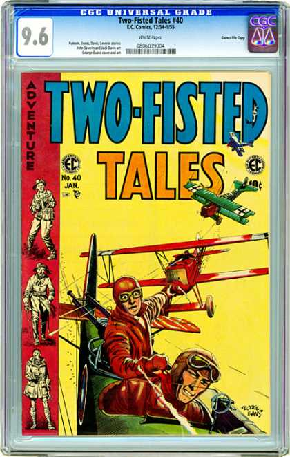 CGC Graded Comics - Two-Fisted Tales #40 (CGC) - Plane - Fly - Wing - Man - Helmet
