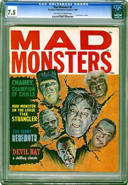 CGC Graded Comics - Mad Monsters #8 (CGC) - Mad Monsters - Chaney - Strangler - The Giant Behemoth - Devil Bat