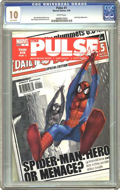 CGC Graded Comics - Pulse #1 (CGC) - The Pulse - Spider Man The Hero - The Pulse Special Edition - Thin Air Part 1 - Marvels The Pulse