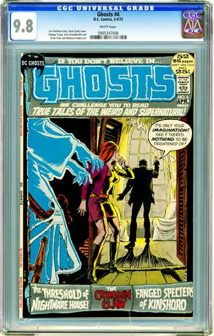 CGC Graded Comics - Ghosts #4 (CGC) - Ghost - Nothing To Be Frightened Of - The Threshold Of Nightmare House - Tales Of The Weird And Supernatural - The Crimson Claw