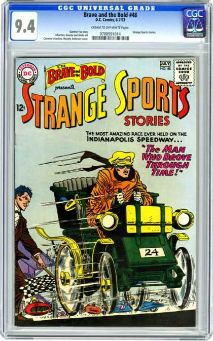 CGC Graded Comics - Brave and the Bold #48 (CGC) - Sports - Indianapolis Speedway - Racing - Automobile - The Man Who Drove Through Time