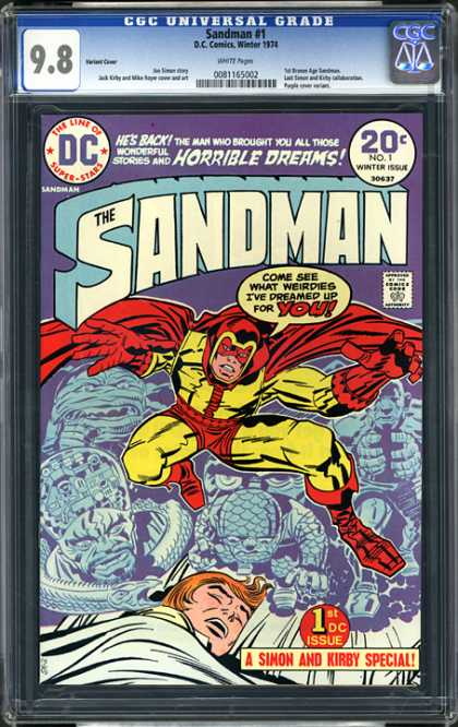 CGC Graded Comics - Sandman #1 (CGC) - The Sandman - Dc - A Simon And Kirby Special - 1st Dc Issue - No 1 Winter Issue