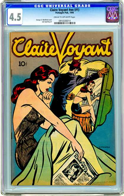 CGC Graded Comics - Claire Voyant #nn (#1) (CGC) - Man - Woman - Red - Cap - Mirror