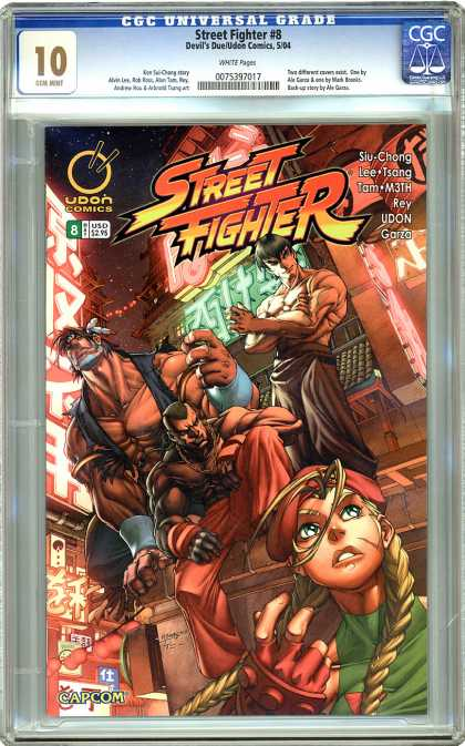 CGC Graded Comics - Street Fighter #8 (CGC) - Fight - Muscle - Fit - Super Star - Battle