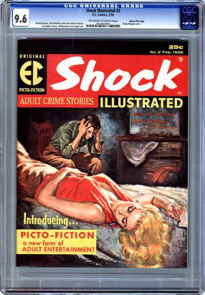 CGC Graded Comics - Shock Illustrated #2 (CGC) - Shock - Adult Crime Stories - Picto-fiction - Woman - Bed