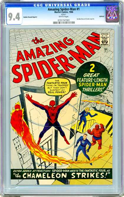 CGC Graded Comics - Amazing Spider-Man #1 (CGC) - Fantastic Four - Chameleon - Trapped - Spiderweb - Human Flame