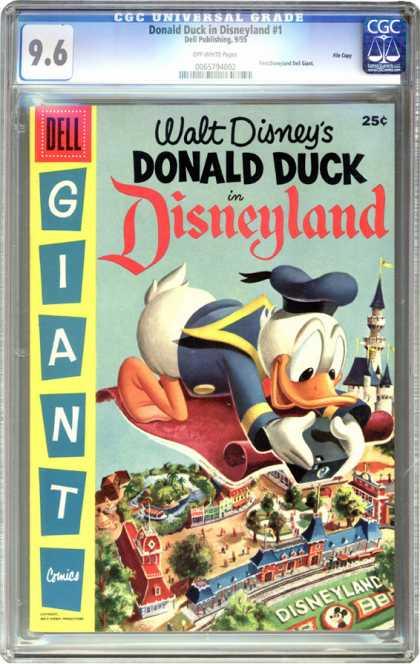CGC Graded Comics - Donald Duck in Disneyland #1 (CGC) - Walt Disney - Dell - Donald Duck In Disneyland - Giant Comics - Building
