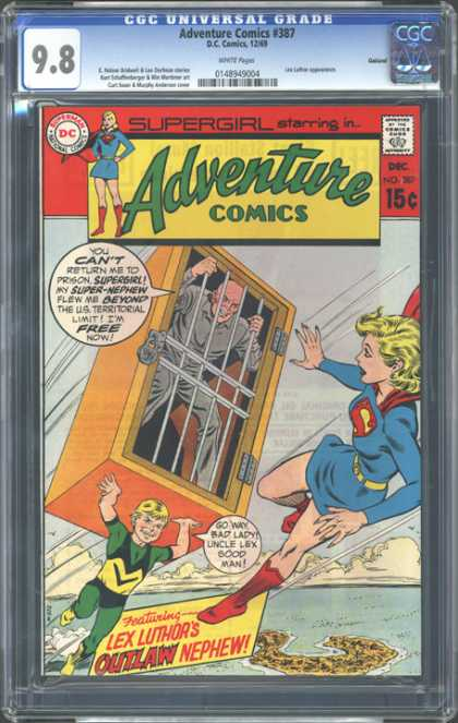 CGC Graded Comics - Adventure Comics #387 (CGC) - Adventure Comics - Supergirl - Featuring Lex Luthors Outlaw Nephew - Jail Cell - Lex Luthor