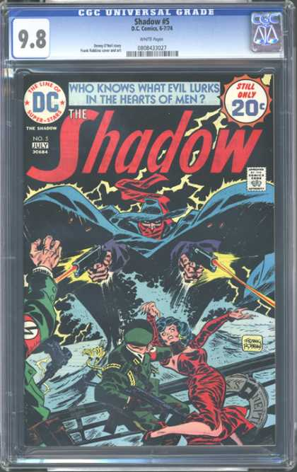 CGC Graded Comics - Shadow #5 (CGC) - Dark - Chivalry - Save - Woman - Nazi
