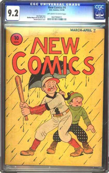 CGC Graded Comics - New Comics #4 (CGC) - Rain - Umbrella - Baseball - Bat - Sport