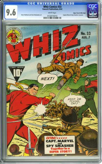 CGC Graded Comics - Whiz Comics #33 (CGC) - Whiz Comics 33 - Aug 7 - Capt Marvel - Spy Smasher - Super Story