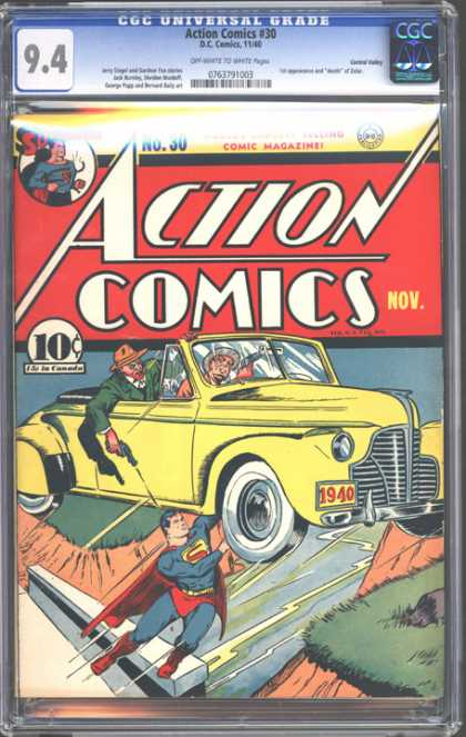 CGC Graded Comics - Action Comics #30 (CGC)