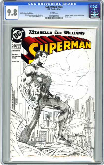 CGC Graded Comics - Superman #204 (CGC) - Superman - Azzarello Lee Williams - Superman 204 - 98 - Dc