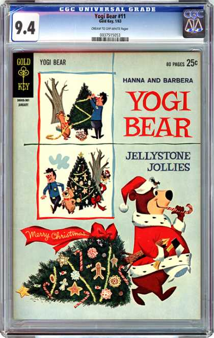 CGC Graded Comics - Yogi Bear #11 (CGC) - Yogi Bear - Gold Key - 80 Pages 25c - Jellystone Jollies - Merry Christmas