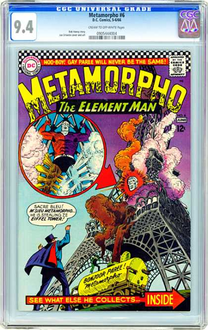 CGC Graded Comics - Metamorpho #6 (CGC) - Metamorpho - Element Man - Bonjoor Paree - Eiffel Tower - Explosion