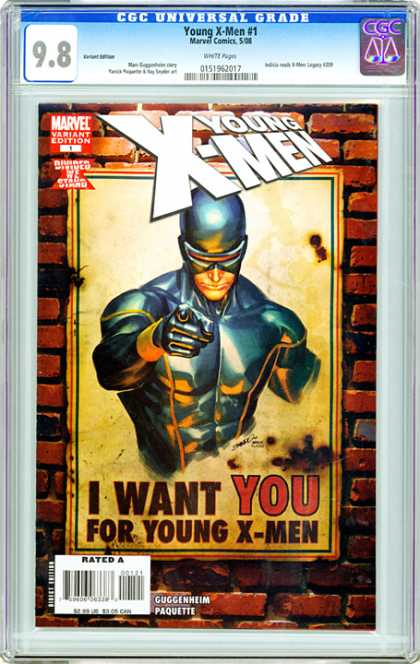 CGC Graded Comics - Young X-Men #1 (CGC) - Young X-men - Marvel - I Want You - Rated A - Guggenheim