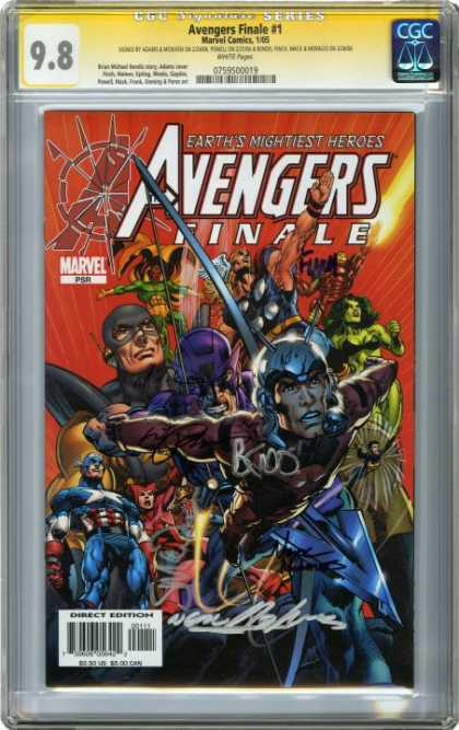 CGC Graded Comics - Avengers Finale #1 (CGC) - Earths Mightiest Heroes - Finale - Captain America - Thor - Iron Man