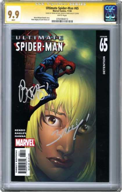 CGC Graded Comics - Ultimate Spider-Man #65 (CGC) - 99 - Graded - Ultimate Spider-man - Detention - Signed