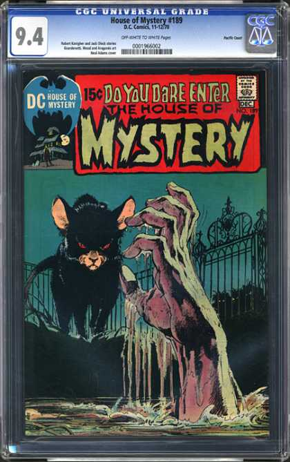 CGC Graded Comics - House of Mystery #189 (CGC) - Dc - House Of Mystery - Do You Dare Enter - Hand - Swamp