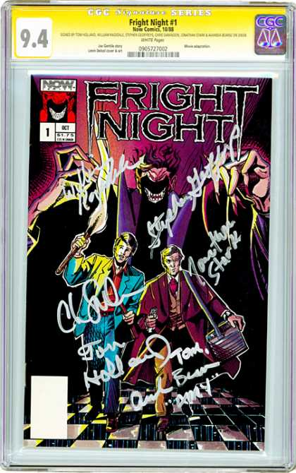 CGC Graded Comics - Fright Night #1 (CGC) - The Shadow Knows - Running From Your Fears - Let The Fire Light The Way - Outrun Yourself - The Light Is Eaten By The Darkness