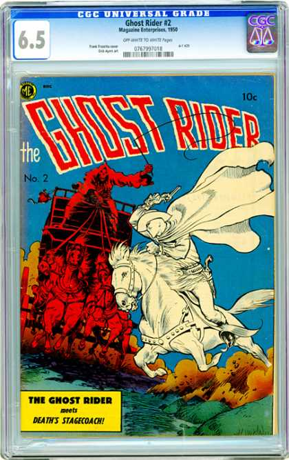 CGC Graded Comics - Ghost Rider #2 (CGC) - White Man - White Horse - Pistol - Hell Chariot - Red Horses