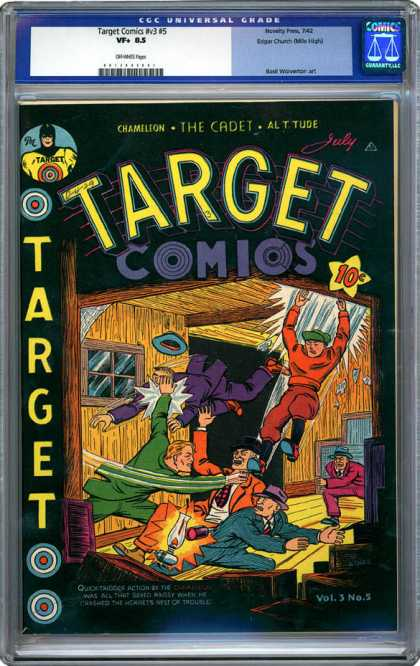 CGC Graded Comics - Target Comics #v3 #5 (CGC) - Target - Chameleon - The Cadet - Fighting - Suits