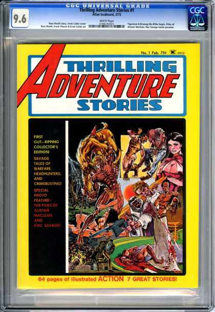 CGC Graded Comics - Thrilling Adventure Stories #1 (CGC) - Thrilling Adventrue Stories - Superhero - Collectors Edition - Savage Tales - February