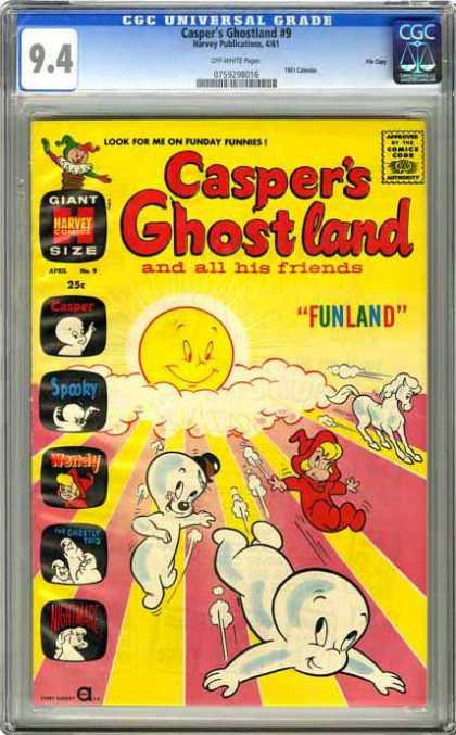 CGC Graded Comics - Casper's Ghostland #9 (CGC)